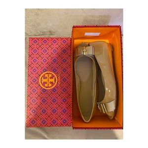 Tory Burch Trudy Open Toe Wedge Shoes